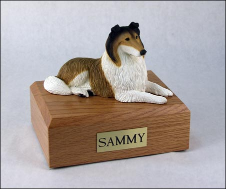 Dog, Collie, Sable - Figurine Urn