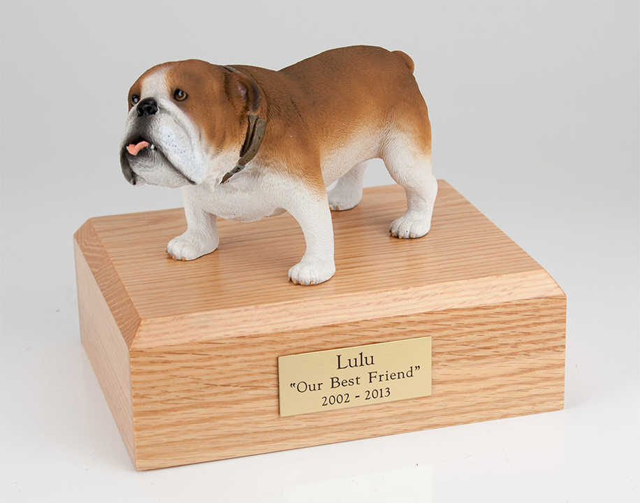 Dog, Bulldog - Figurine Urn