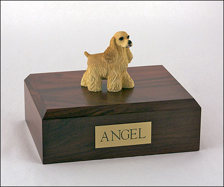 Dog, Cocker Spaniel, Buff - Figurine Urn