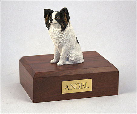 Dog, Papillon - Figurine Urn