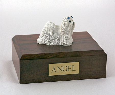 Dog, Maltese - Figurine Urn