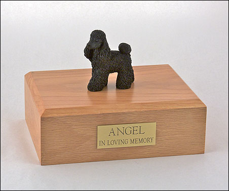 Dog, Poodle, Black - Figurine Urn