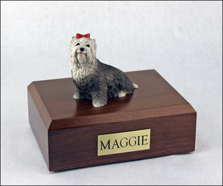 Dog, Yorkshire Terrier, Gray - Figurine Urn