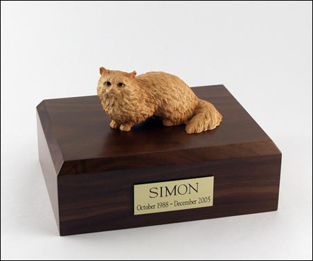 Cat, Angora, Brown - Figurine Urn