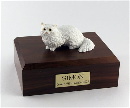 Cat, Angora, White - Figurine Urn