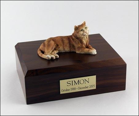 Cat, Tabby, Orange - Figurine Urn