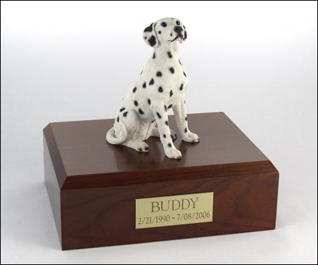 Dog, Dalmatian, Sitting - Figurine Urn