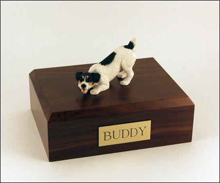 Dog, Jack Russell Terrier, Black - Figurine Urn