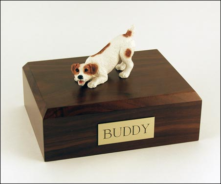 Dog, Jack Russell Terrier, Brown - Figurine Urn