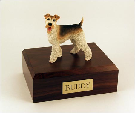 Dog, Wire Fox Terrier, Standing - Figurine Urn