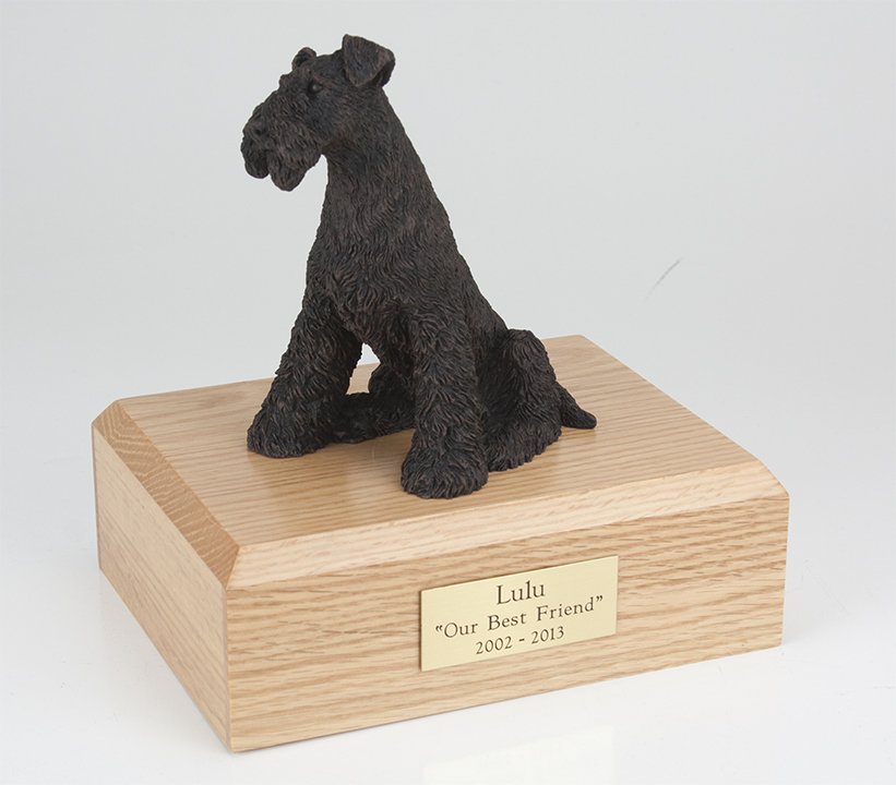 Dog, Airedale, Bronze - Figurine Urn