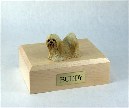 Dog, Lhasa Apso, Blonde - Figurine Urn