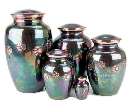 Teal Paw Print Vase: X-Small