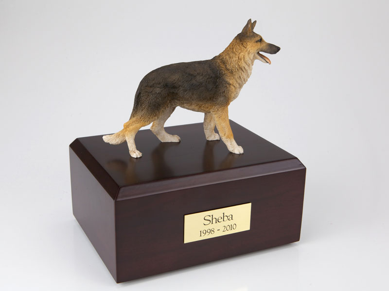 Dog, German Shepherd Standing - Figurine Urn