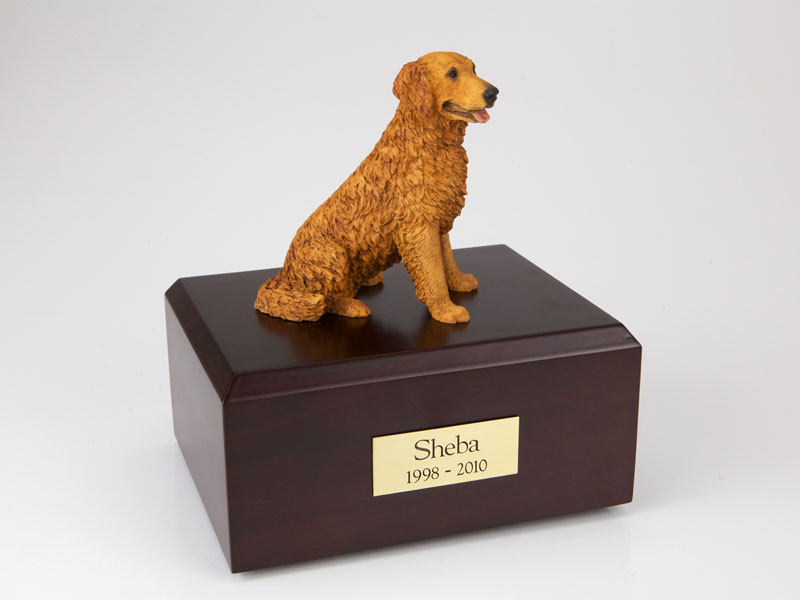 Dog, Golden Retriever, Golden - Figurine Urn