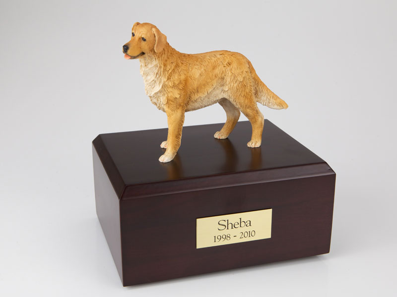 Dog, Golden Retriever, Standing - Figurine Urn