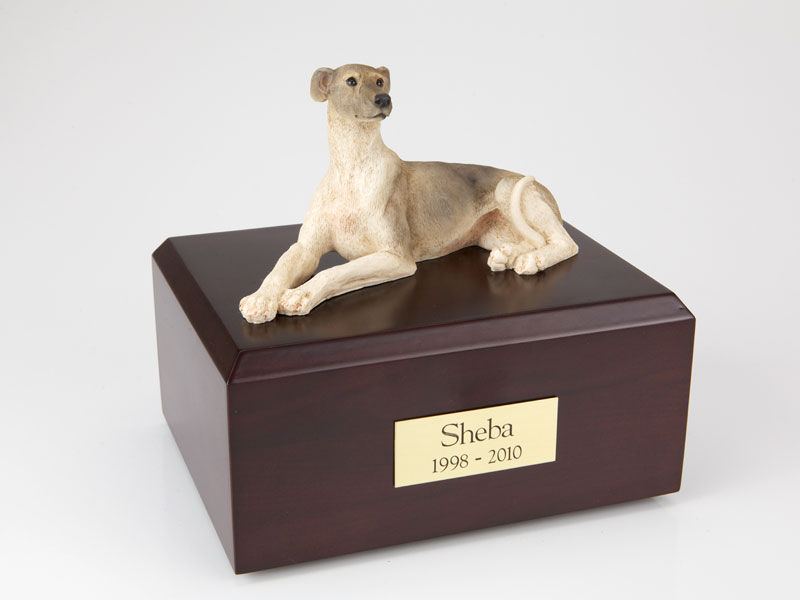 Dog, Greyhound - Figurine Urn