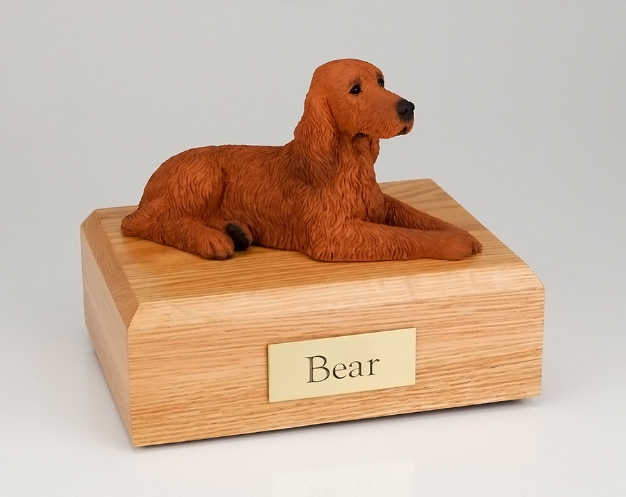 Dog, Irish Setter - Figurine Urn