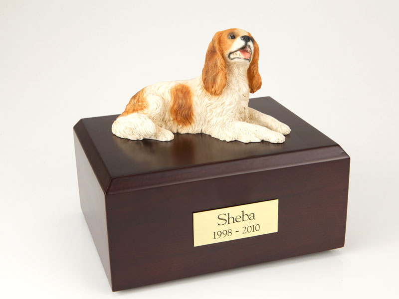 Dog, King Charles Spaniel, Brown - Figurine Urn
