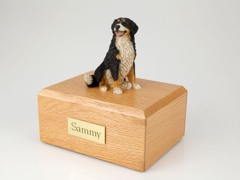 Dog, Bernese Mountain Dog - Figurine Urn