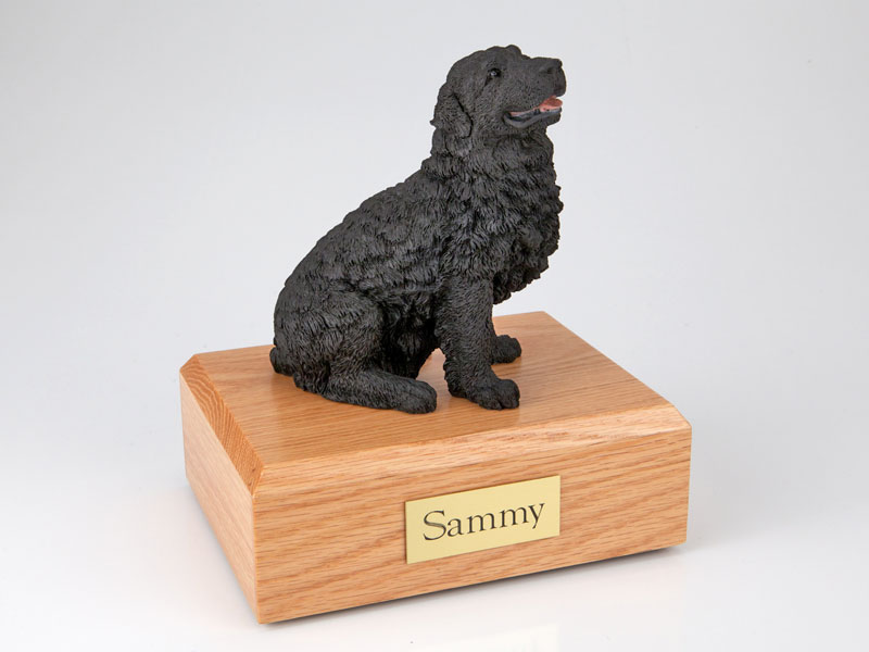 Dog, Newfoundland, Black - Figurine Urn