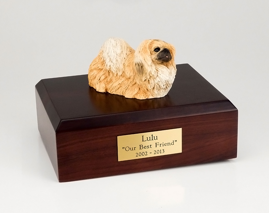Dog, Pekingese, Tan - Figurine Urn