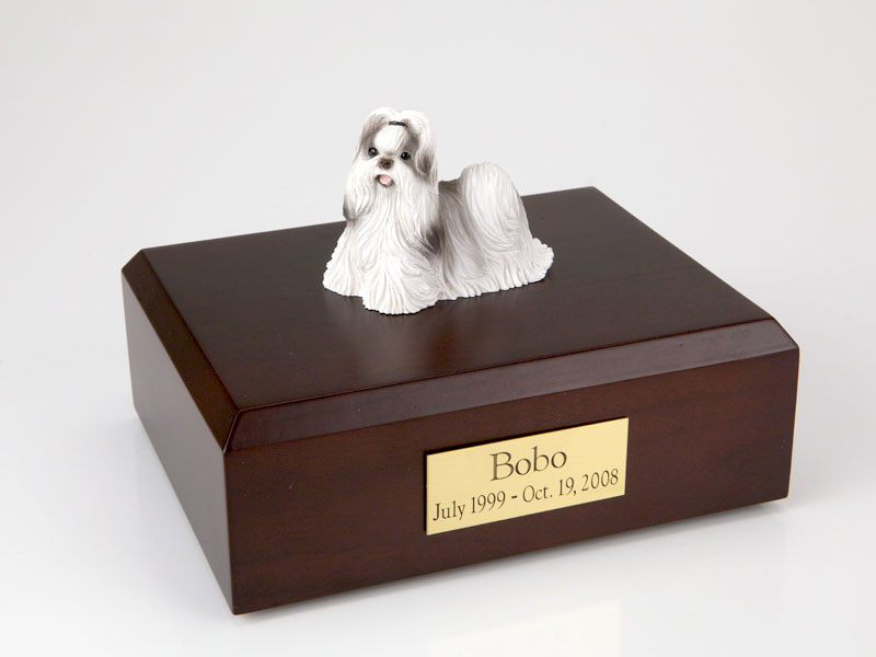 Dog, Shih Tzu, Black/White - Figurine Urn