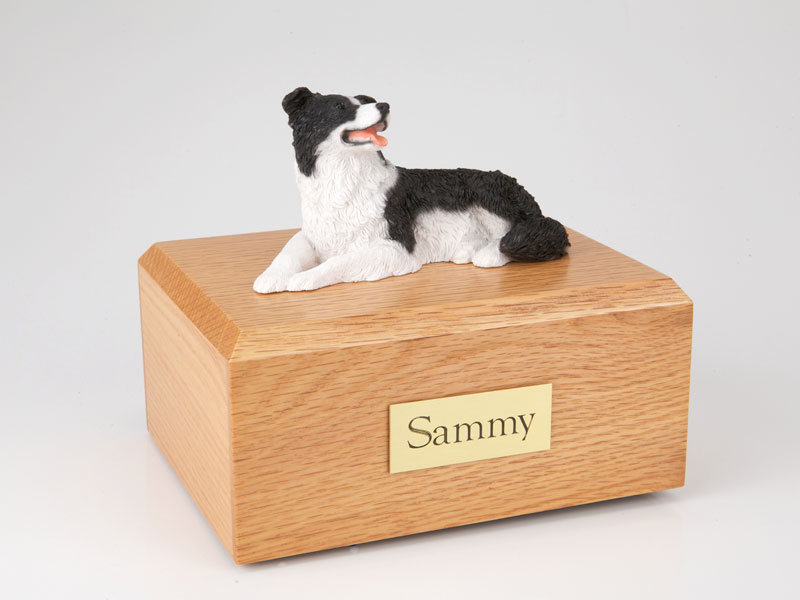 Dog, Border Collie, Lying - Figurine Urn