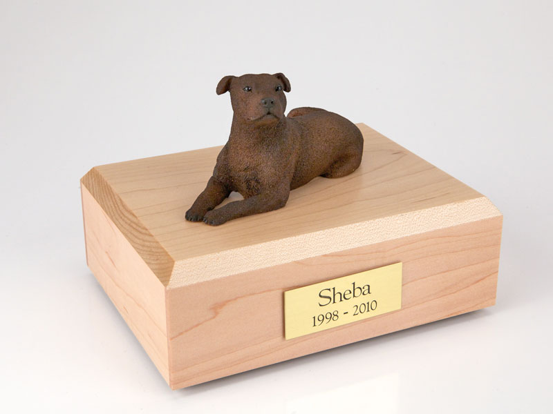 Dog, Staffordshire Terrier - Figurine Urn