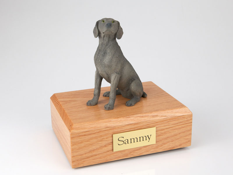 Dog, Weimaraner, Gray - Figurine Urn