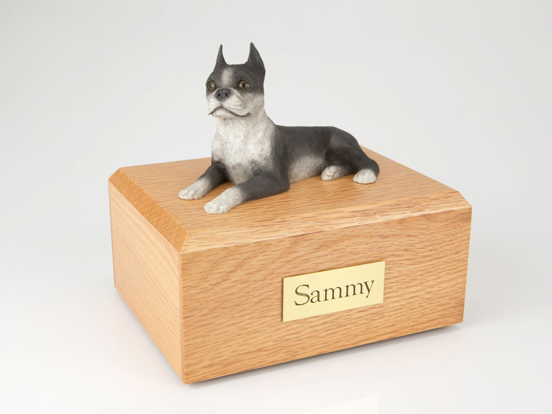 Dog, Boston Terrier - Figurine Urn