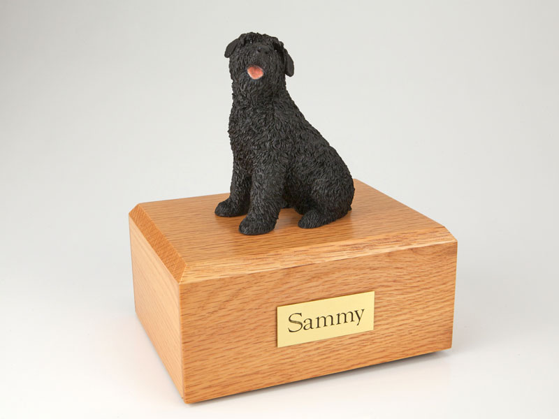 Dog, Bouvier -Figurine Urn