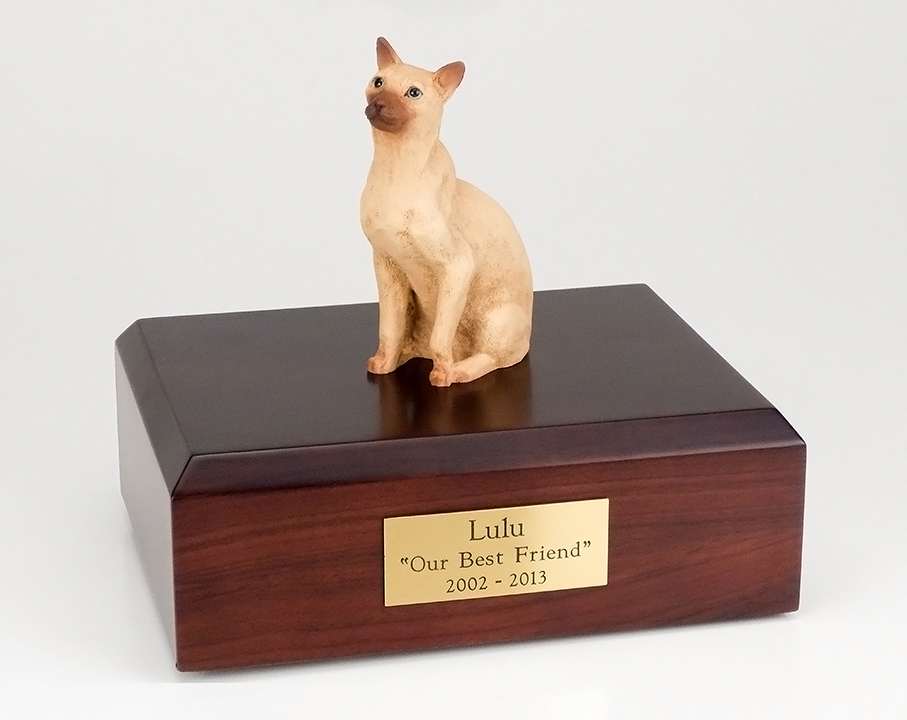 Cat, Siamese, Tan - Figurine Urn
