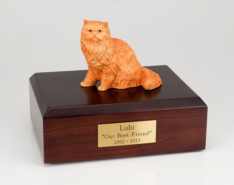 Cat, Persian, Orange - Figurine Urn