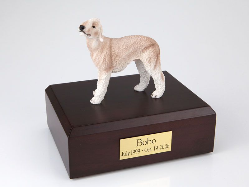 Dog, Bedlington Terrier, Tan - Figurine Urn