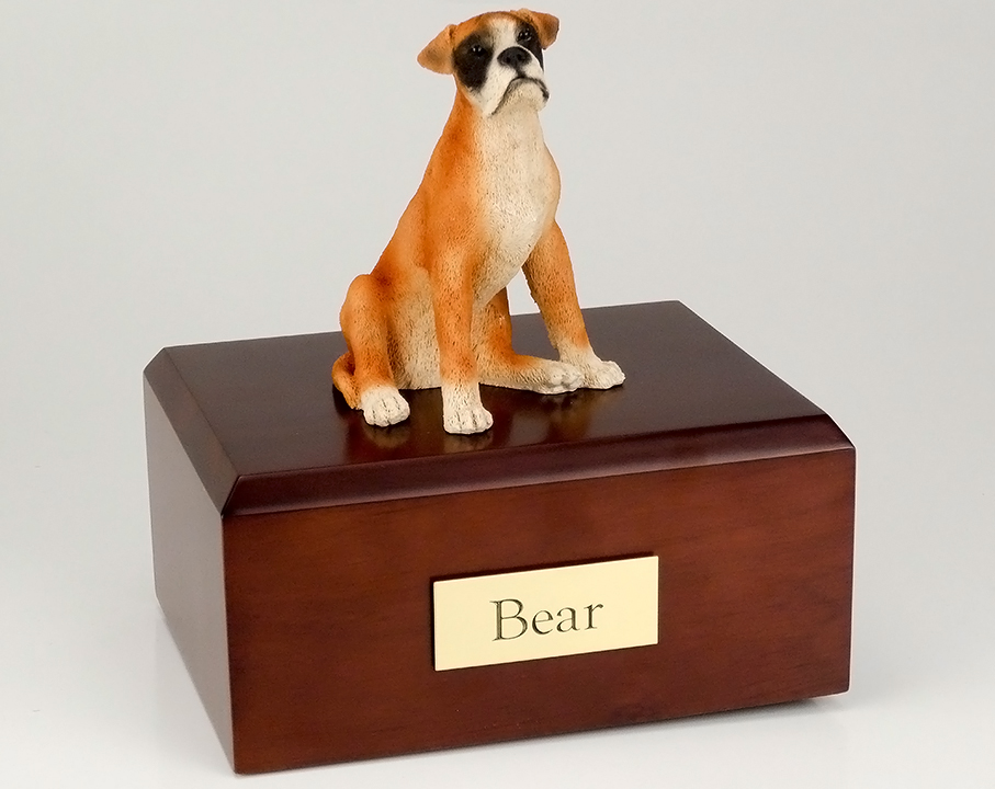 Dog, Boxer - ears down - Figurine Urn