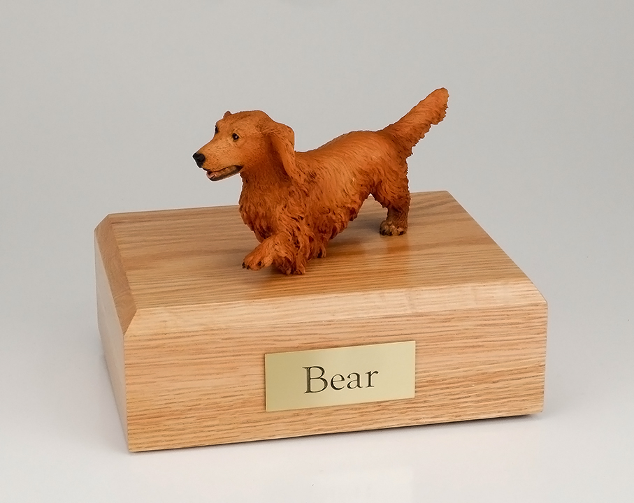 Dog, Dachshund, Walking - Figurine Urn