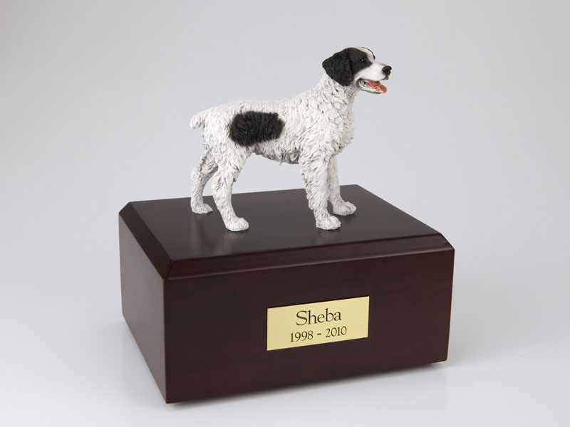 Dog, Brittany, Black - Figurine Urn