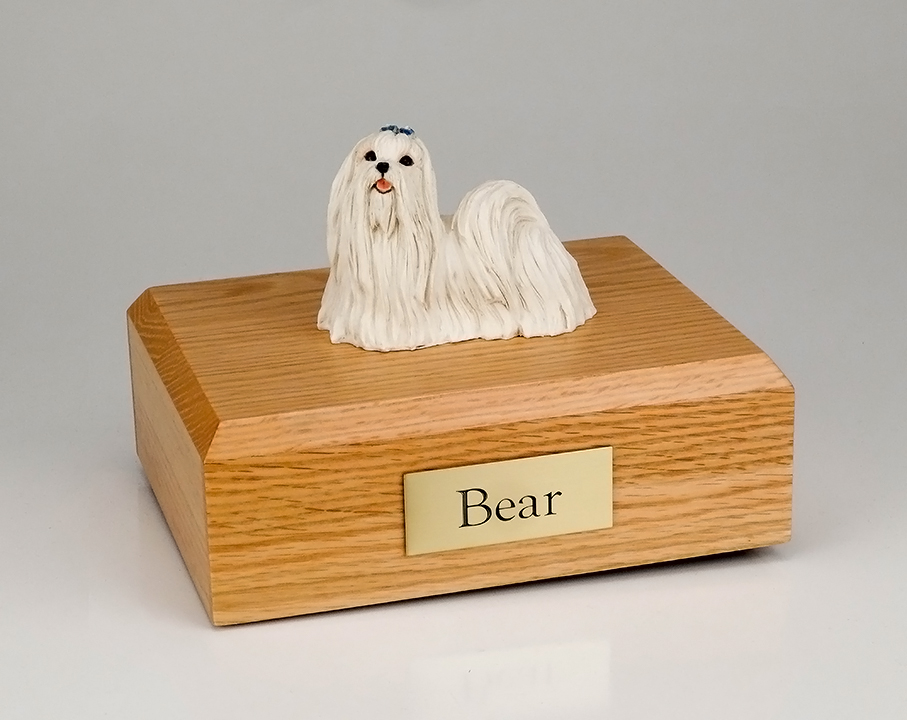 Dog, Maltese Standing - Figurine Urn