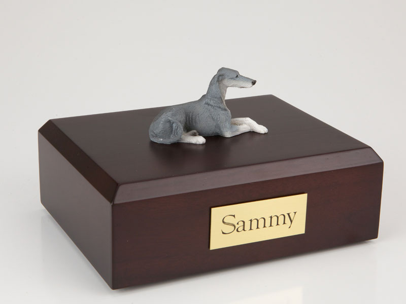 Dog, Greyhound, Grey - Figurine Urn