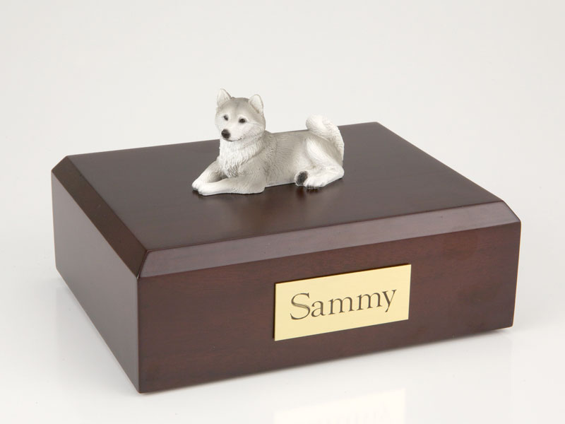 Dog, Husky, Gray - Figurine Urn