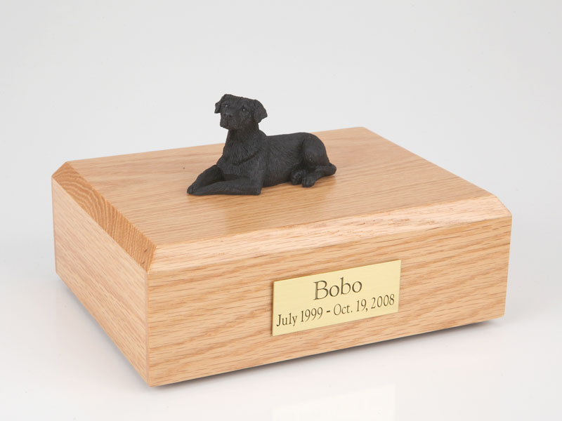 Dog, Labrador, Black - Figurine Urn