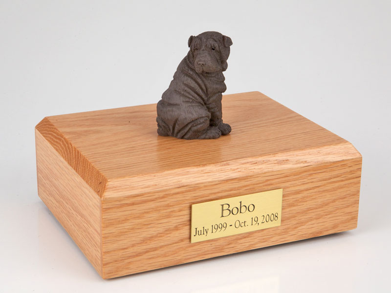 Dog, Shar Pei, Chocolate - Figurine Urn