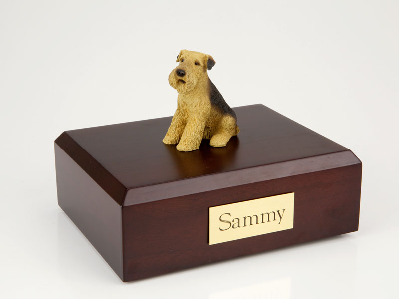Dog, Airedale - Figurine Urn