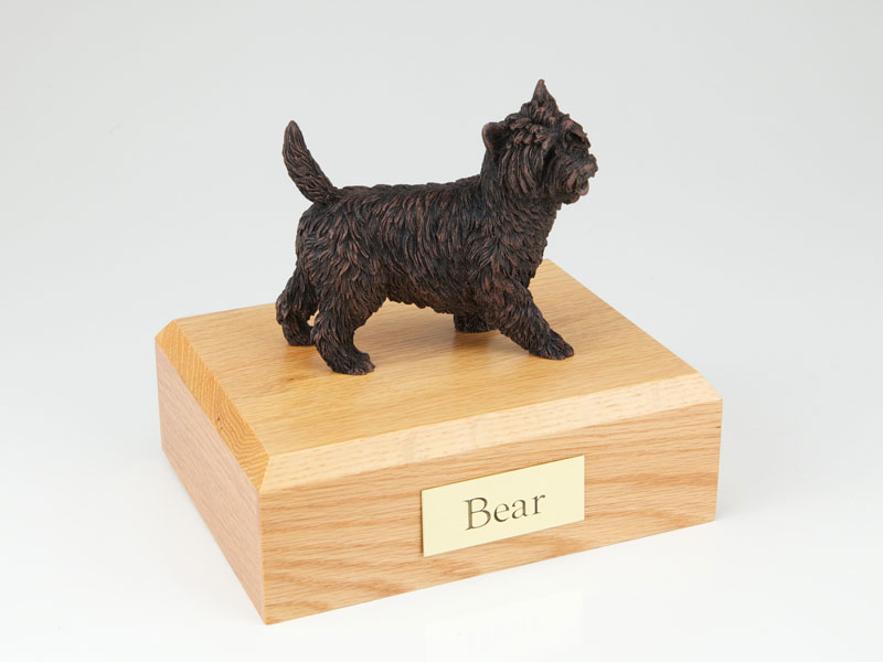 Dog, Cairn Terrier, Bonze - Figurine Urn