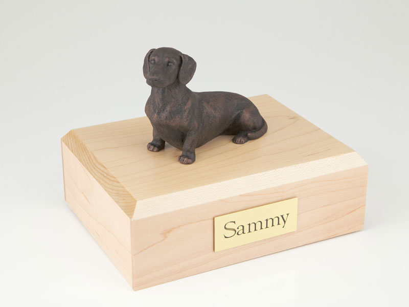 Dog, Dachshund, Bronze - Figurine Urn