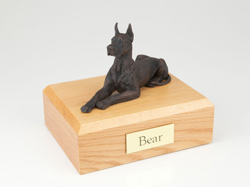 Dog, Great Dane, Bronze - ears up - Figurine Urn