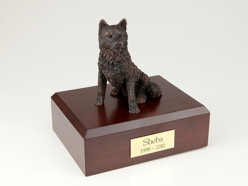 Dog, Husky, Bronze - Figurine Urn
