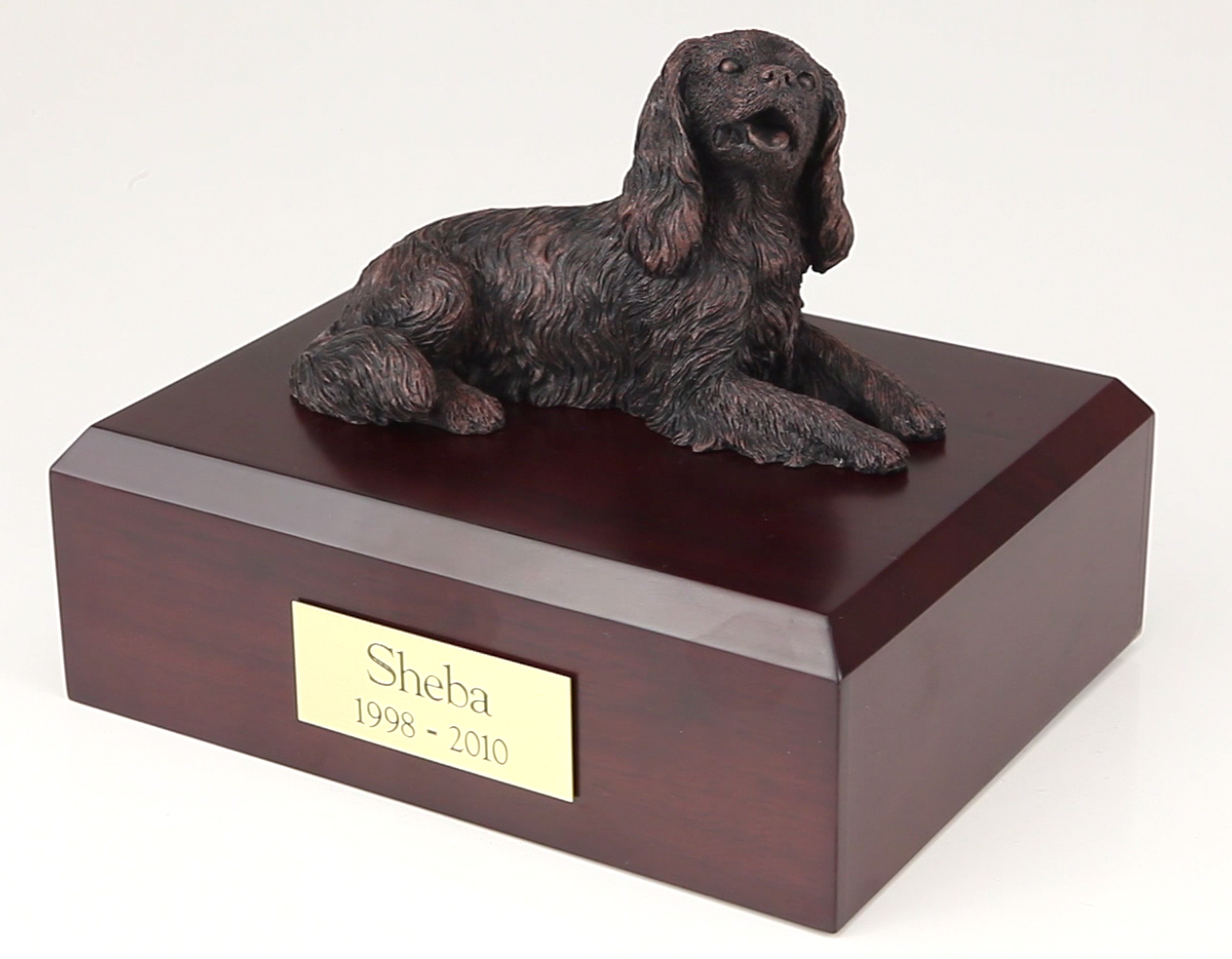 Dog, King Charles Spaniel, Bronze - Figurine Urn
