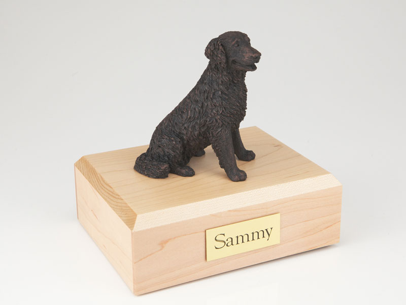 Dog, Labrador, Bronze, Long-haired - Figurine Urn - Click Image to Close